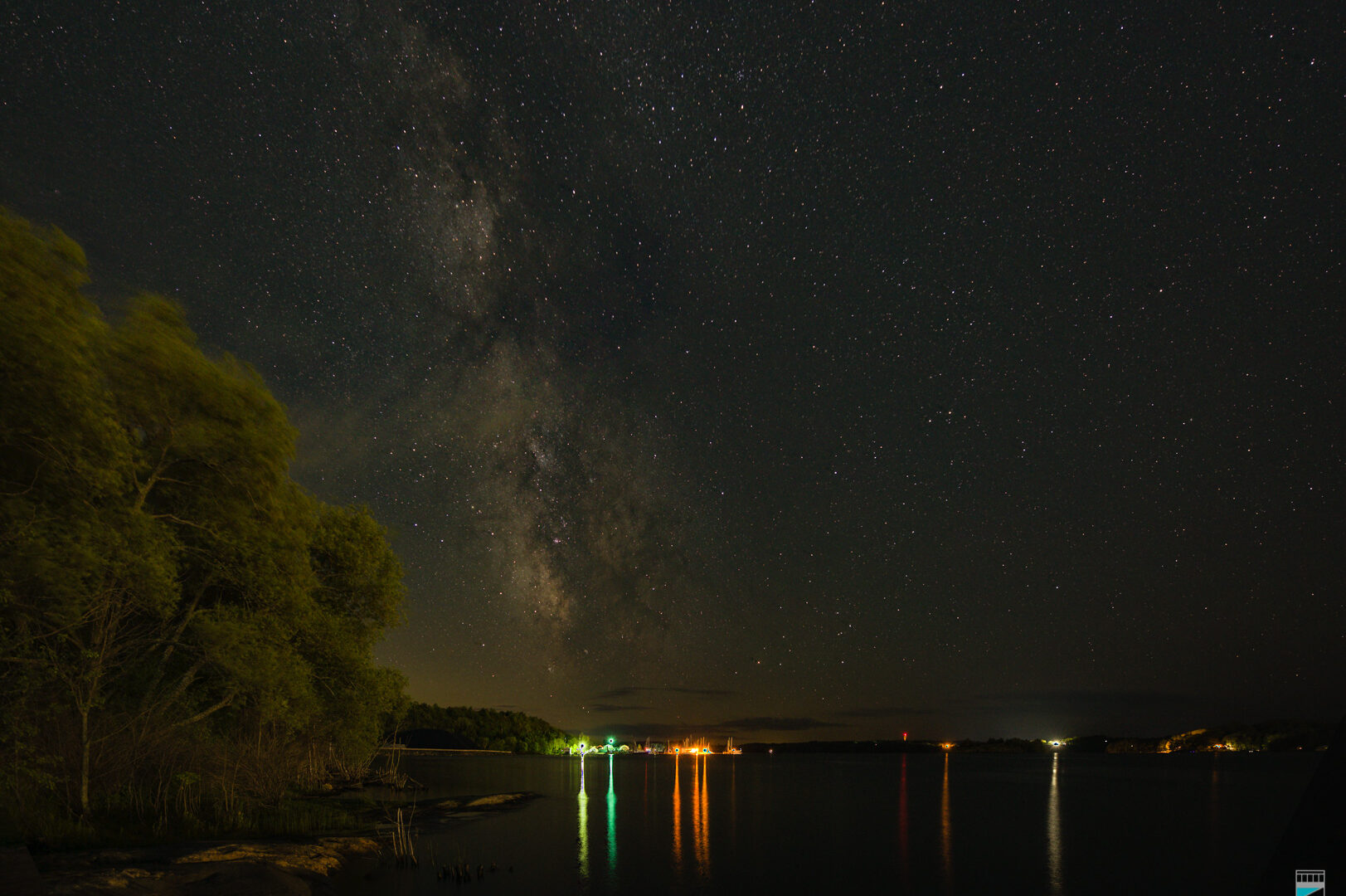 Milky Way seen from Champaigne Street Launch in Parry Sound